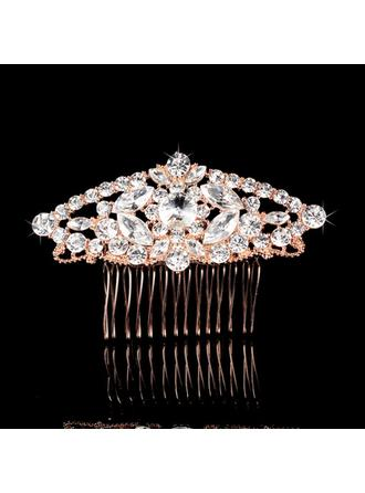 "Combs & Barrettes Wedding/Special Occasion/Party/Carnival Rhinestone/Alloy 3.58""(Approx.9.1cm) 2.37""(Approx.6cm) Headpieces"