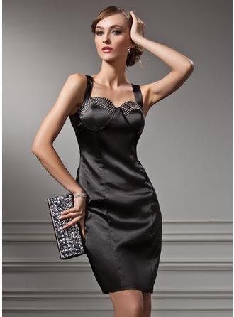 Sheath/Column Sweetheart Knee-Length Cocktail Dresses With Beading