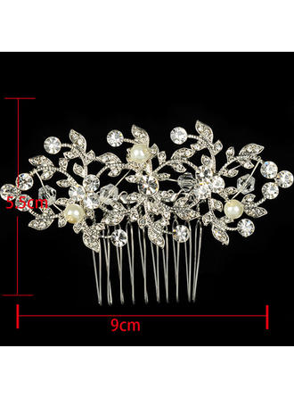 "Combs & Barrettes Wedding/Special Occasion/Casual/Outdoor/Party Rhinestone/Alloy 3.54""(Approx.9cm) Beautiful Headpieces"