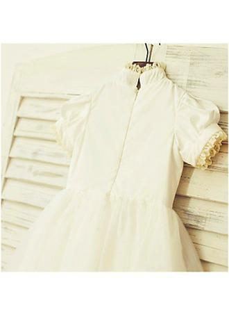 ivory chiffon flower girl dresses