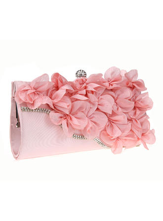 Clutches Ceremony & Party Chiffon Magnetic Closure Elegant Clutches & Evening Bags