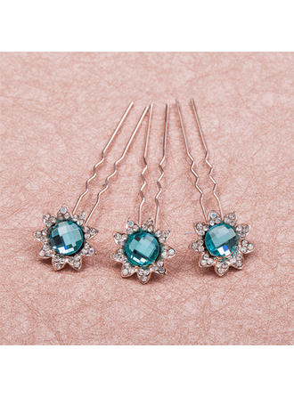 Charming Rhinestone/Alloy Hairpins(Set of 6) (042065941)