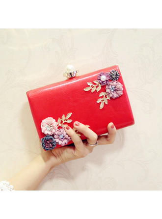"Clutches Wedding/Ceremony & Party/Casual & Shopping/Office & Career PU Elegant 7.09""(Approx.18cm) Clutches & Evening Bags"