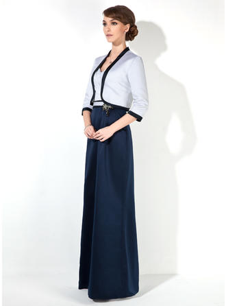 Simple サテン 恋人 シース ミセスドレス (008006105)