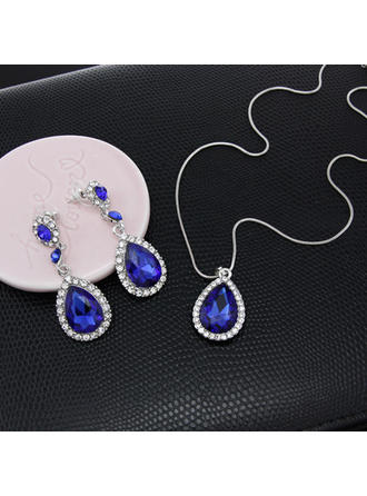 Jewelry Sets Alloy/Rhinestones Lobster Clasp Pierced Ladies' Wedding & Party Jewelry (011167893)