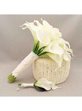 "Flower Sets Round Wedding PE/Lace 12.20""(Approx.31cm) Wedding Flowers"