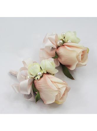 Armbandblume/Knopflochblume Freigeformt Hochzeit/Party/Lässige Kleidung (Satz von 2) Brautstrauß