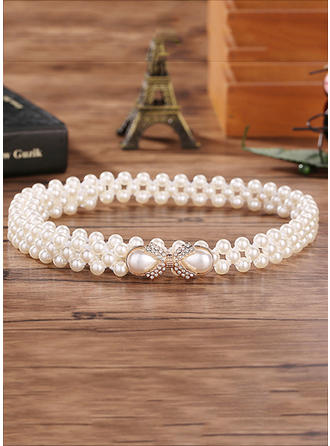 Women Imitation Pearls Belt Gorgeous Sashes & Belts