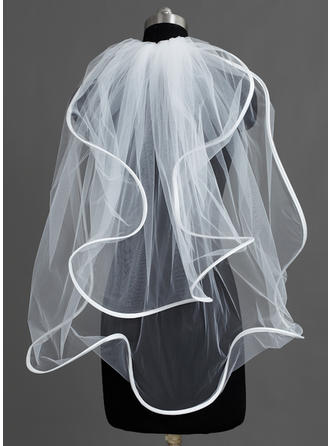 Two-tier Elbow Bridal Veils With Scalloped Edge (006060213)
