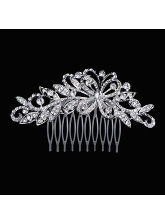 "Combs & Barrettes Wedding/Special Occasion Rhinestone 3.94""(Approx.10cm) 2.36""(Approx.6cm) Headpieces"