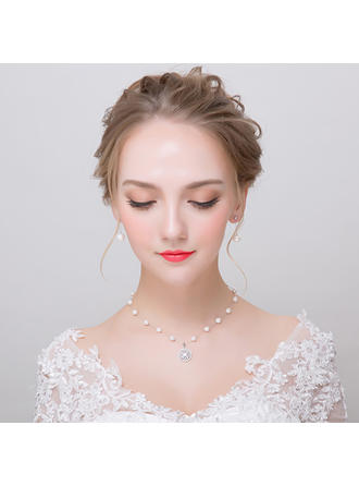 Jewelry Sets Alloy/Imitation Pearls Pierced Ladies' Pretty Wedding & Party Jewelry
