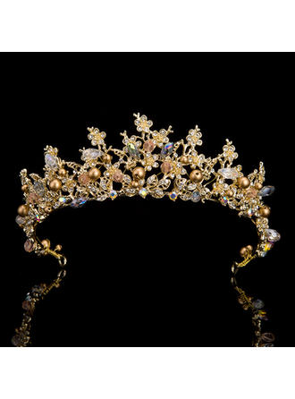 Ladies Exquisite Rhinestone Tiaras With Rhinestone (042119191)