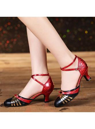 Women's Ballroom Heels Leatherette Dance Shoes