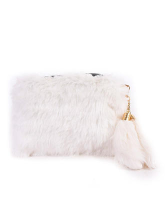 Clutches/Satchel Ceremony & Party Fur/PU Zipper Closure Unique Clutches & Evening Bags