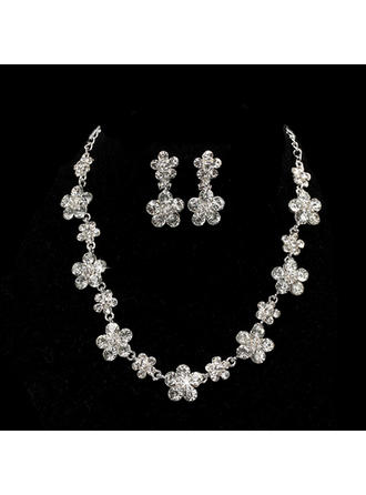 Jewelry Sets Alloy/Zircon Rhinestone Ladies' Elegant Wedding & Party Jewelry
