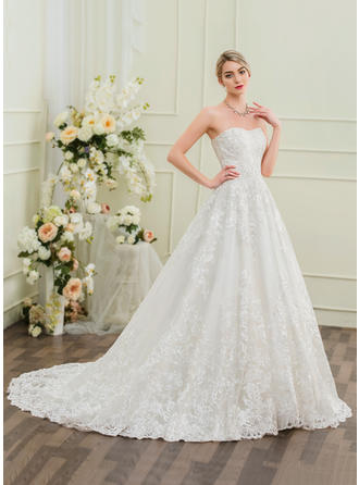 Lace Ball-Gown With Luxurious General Plus Wedding Dresses