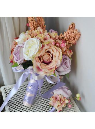 """Bridal Bouquets Free-Form Wedding Satin 8.66"""" (Approx.22cm) Wedding Flowers"""