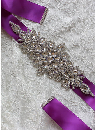 Women Ribbon With Rhinestones Sash Elegant Sashes & Belts