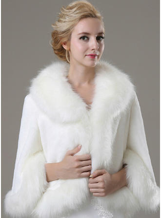 Wrap Fashion Faux Fur 3/4-Length Sleeve Other Colors Wraps