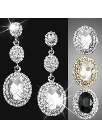 Earrings Alloy/Rhinestones Pierced Ladies' Vintage Wedding & Party Jewelry (011167943)