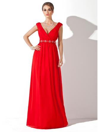 Elegant Chiffon V-neck A-Line/Princess Mother of the Bride Dresses