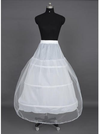 Petticoats Tea-length Nylon/Tulle Netting Ball Gown Slip 1 Tiers Petticoats