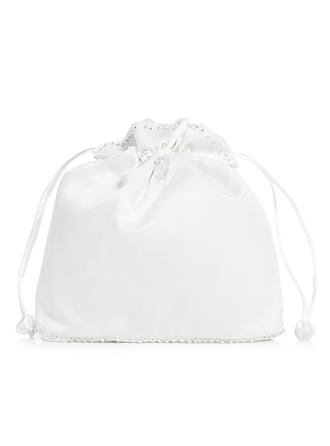 Bridal Purse Wedding/Ceremony & Party Satin Tether closure Unique Clutches & Evening Bags
