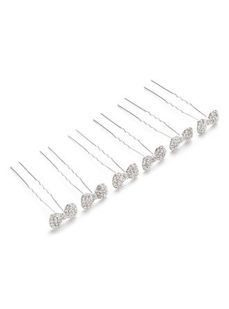 "Hairpins Wedding/Casual/Party Rhinestone/Alloy 2.56""(Approx.6.5cm) 0.98""(Approx.2.5cm) Headpieces"