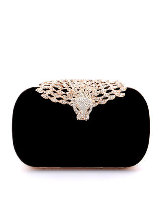 Clutches Wedding/Ceremony & Party Polyester Push-lock frame closure Elegant Clutches & Evening Bags