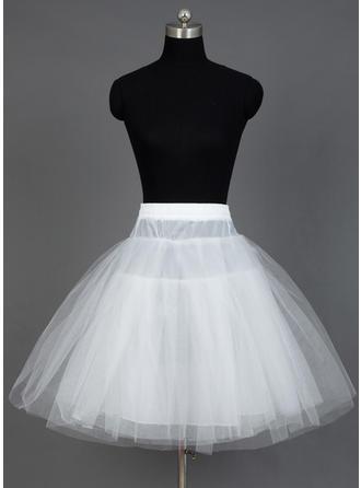 Petticoats Short-length Nylon/Tulle Netting A-Line Slip/Half Slip 3 Tiers Petticoats