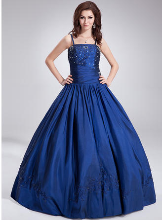 Ball-Gown Floor-Length Prom Dresses With Beading Sequins