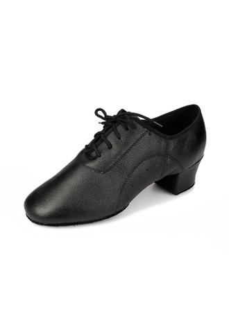 Men's Practice Heels Pumps Real Leather Dance Shoes