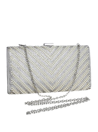 Clutches/Satchel Wedding/Ceremony & Party Polyester/Beading Kiss lock closure Elegant Clutches & Evening Bags