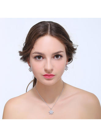 Jewelry Sets Zircon Lobster Clasp Pierced Ladies' Wedding & Party Jewelry