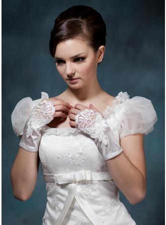 Elastic Satin Ladies' Gloves Wrist Length Party/Fashion Gloves/Bridal Gloves Fingerless Gloves