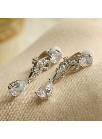 Earrings Zircon Pierced Ladies' Exquisite Wedding & Party Jewelry