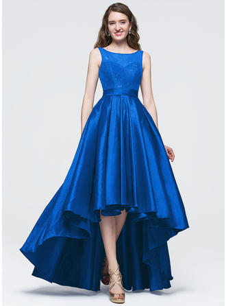 A-Line/Princess Prom Dresses Beautiful Asymmetrical Scoop Neck Sleeveless