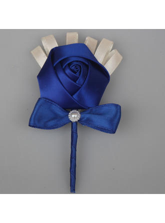 "Boutonniere Free-Form Wedding/Party Satin 2.76""(Approx.7cm) Wedding Flowers"