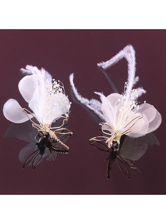 Ladies Beautiful Alloy/Feather Hairpins (Sold in single piece) (042128365)