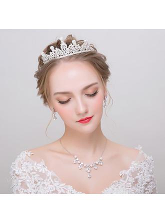 Jewelry Sets Alloy/Rhinestones/Imitation Pearls Earclip Ladies' Gorgeous Wedding & Party Jewelry