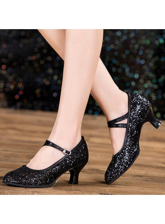 Women's Character Shoes Sparkling Glitter Dance Shoes
