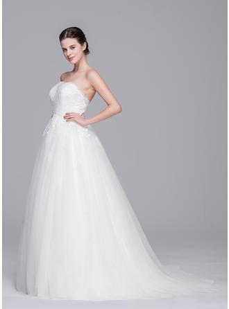 a line wedding dresses with pockets
