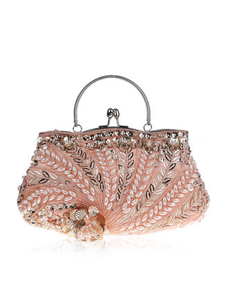 Totes Wedding/Ceremony & Party Beading/Embroidery Kiss lock closure Classical Clutches & Evening Bags