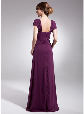 newdeve chiffon mother of the bride dresses long pleated grey