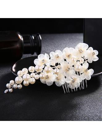 Kämme und Haarspangen Hochzeit Faux-Perlen/Seide Blumen Elegant (In Einem Stück Verkauft) Kopfschmuck