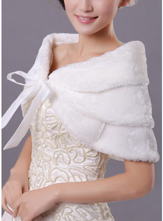 Wrap Fashion Faux Fur Acrylic With Sashes / Ribbons Other Colors Wraps