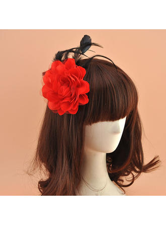 Organza With Silk Flower Fascinators Vintage Ladies' Hats