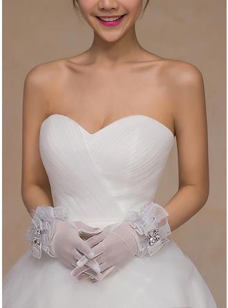 Lace Damen Handschuhe Braut Handschuhe Fingertips 24cm(Approx.9.45inch) Handschuhe