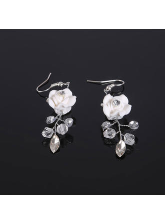 Earrings Rhinestones/Polymer Clay Rhinestone Pierced Ladies' Wedding & Party Jewelry