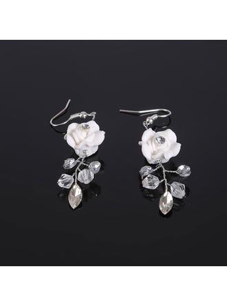 Elegante Diamantes de imitación/Arcilla del polímero con Rhinestone Señoras' Pendientes
